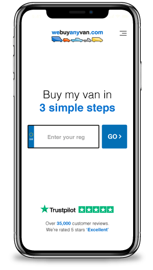 webuyanyvan.com on a phone
